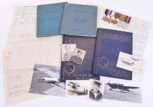 WW2 Royal Canadian Air Force (RCAF) 89 Squadron Medals & Log Book Grouping of Mosquito and Beaufighter Pilot Leonard Rushen
