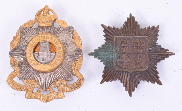 13th (Kensington) Battalion County of London Regiment Officers Cap Badge