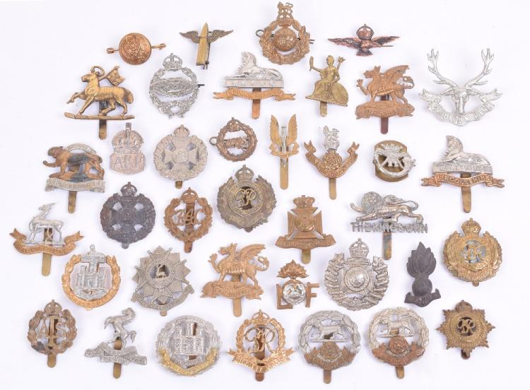 Selection of Mostly British Cap Badges