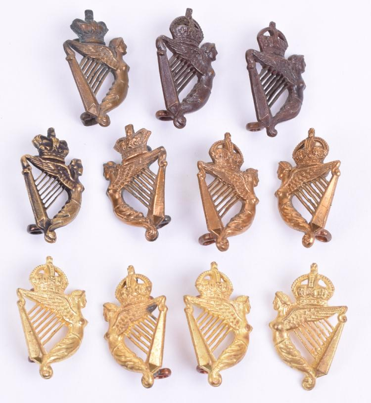 5th Royal Irish Lancers Collar Badges