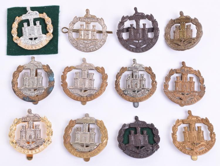 Selection of Dorsetshire & Dorset Regiment Cap Badges