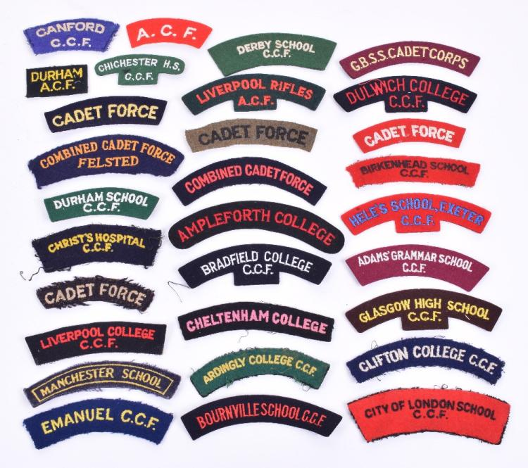 Selection of C.C.F & Schools Shoulder Titles