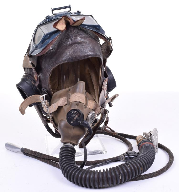 Royal Air Force 1st Model C-Type Flying Helmet, Goggles and Oxygen Mask Grouping