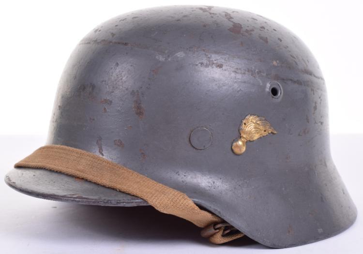 Post WW2 Austrian Gendarmerie Steel Helmet