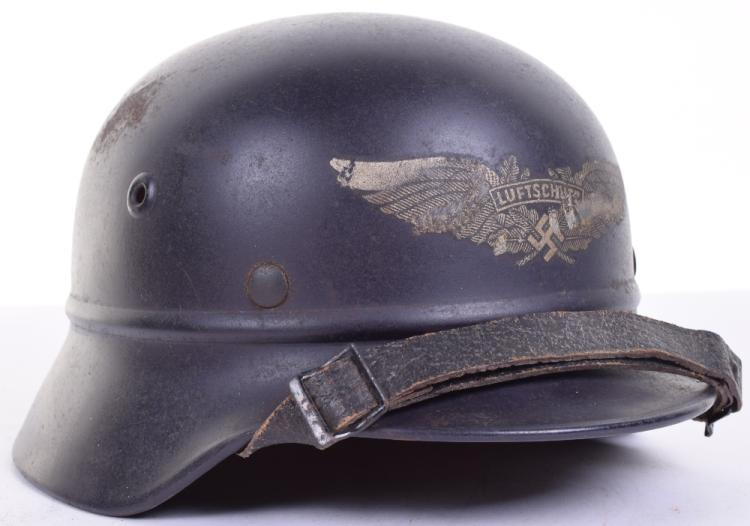 Lufschutz (Air Defence) Beaded Pattern Steel Helmet