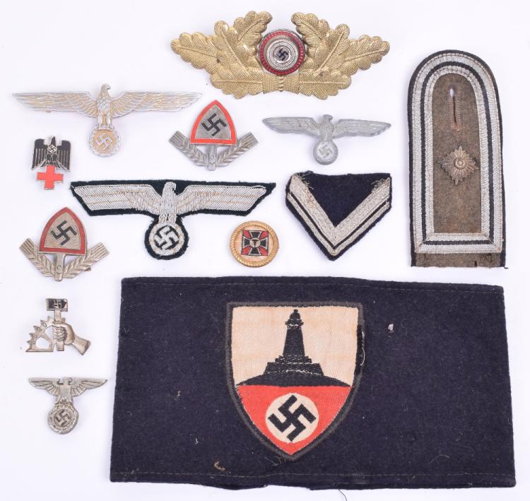 Selection of Cloth and Metal Third Reich Insignia