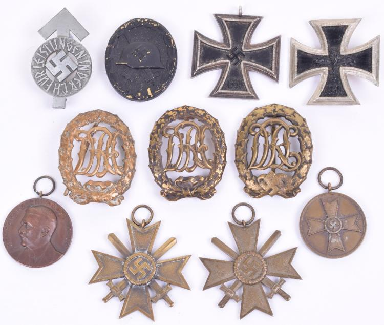 Selection of Third Reich Medals and Badges