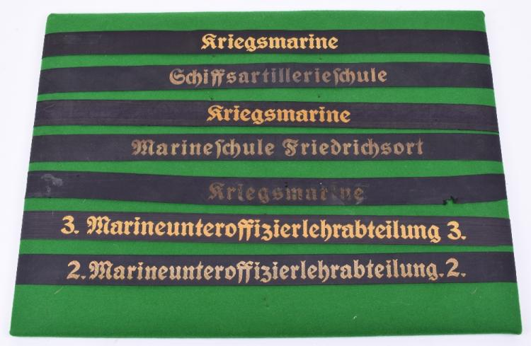 Kriegsmarine Cap Tallies