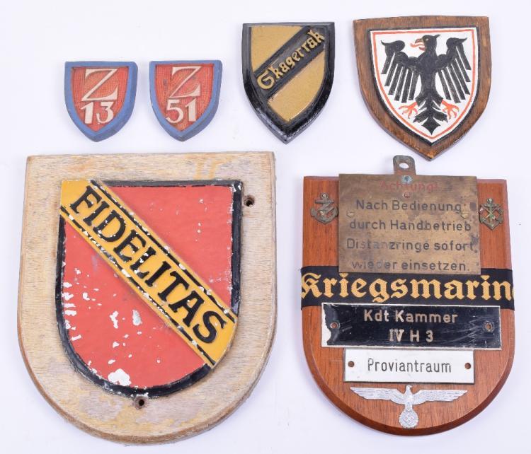 WW2 German Naval Ships Plaques