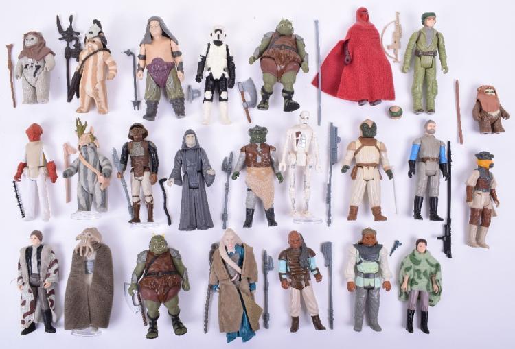 Selection of Vintage Star Wars Return of the Jedi Loose Complete Action Figures