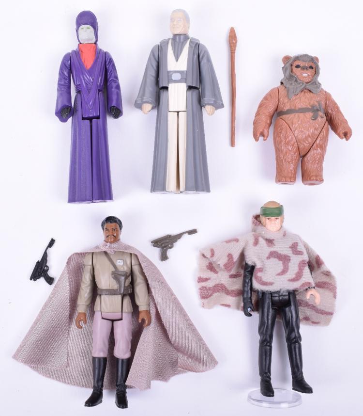 Five Vintage Star Wars Last 17 Loose Complete Action Figures
