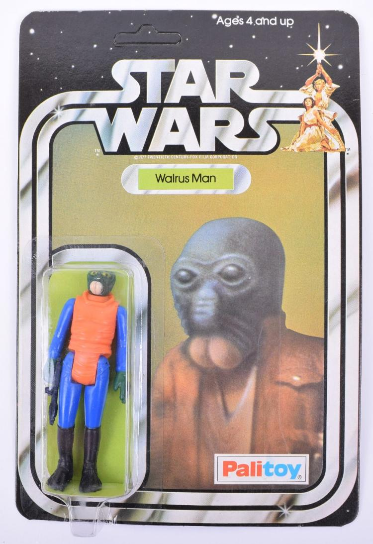 Palitoy Star Wars Walrus Man Vintage Original Carded Figure
