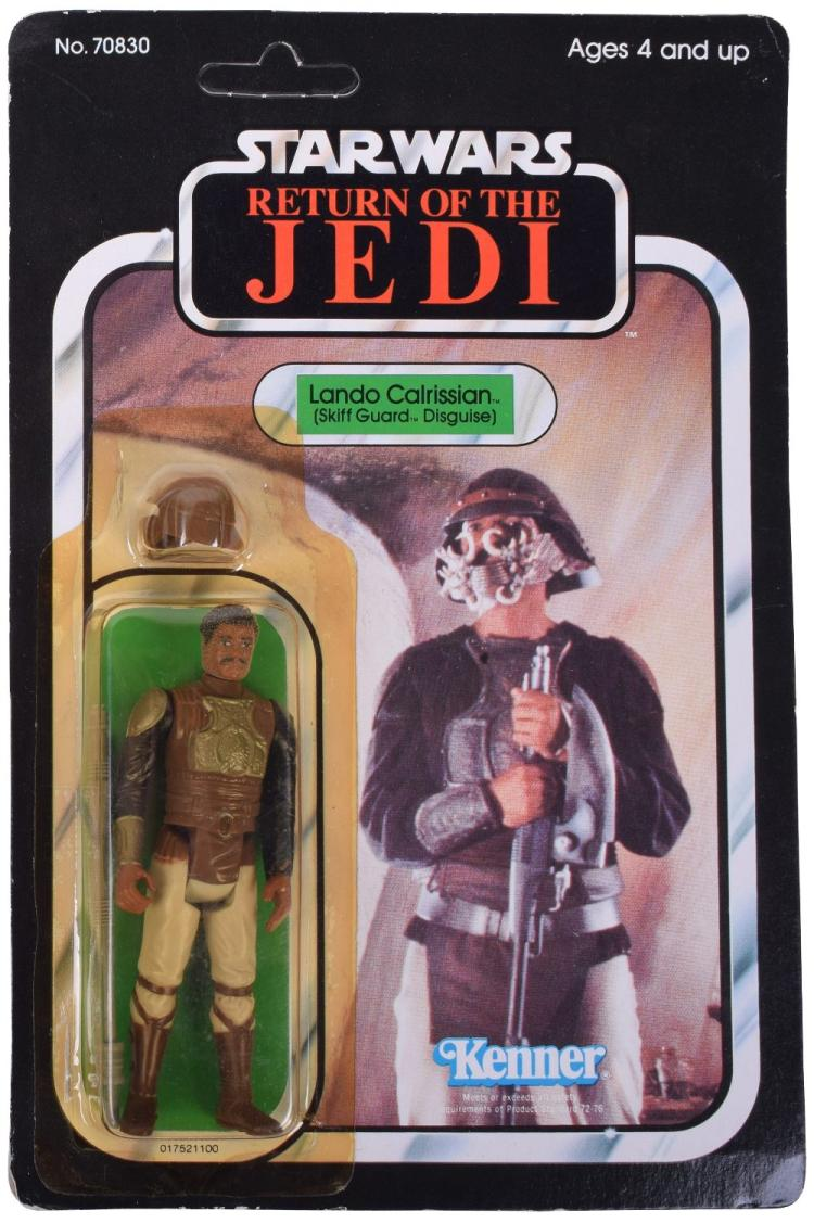 Vintage Star Wars Return of the Jedi Lando Calrissian Skiff Guard Carded Action Figure