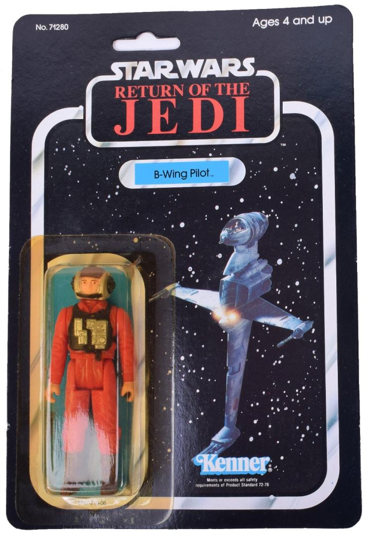 Vintage Star Wars Return of the Jedi B-Wing Pilot Carded Action Figure