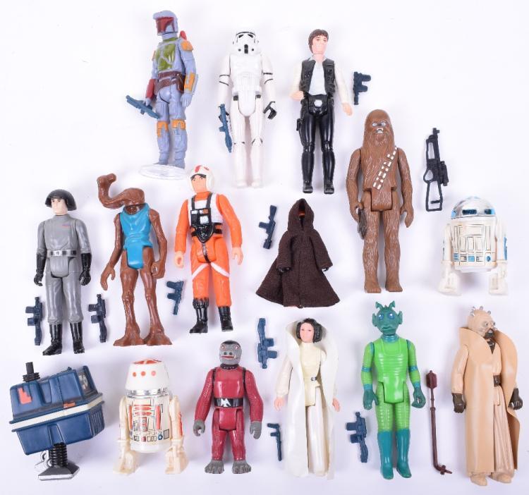 Selection of Vintage Star Wars Loose Complete Action Figures