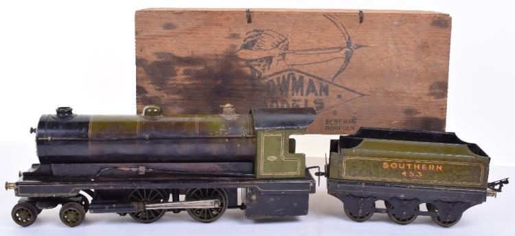 A Bowman '234' O Gauge Live Steam Locomotive and Tender