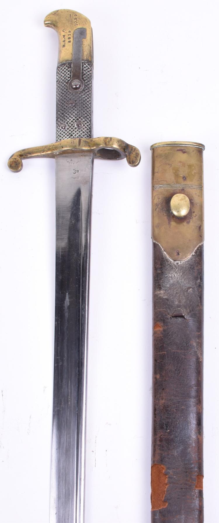 British 1855 Pattern Lancaster Sword Bayonet