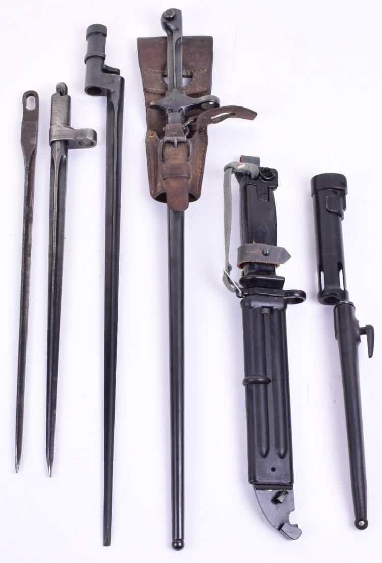 Six Military Bayonets