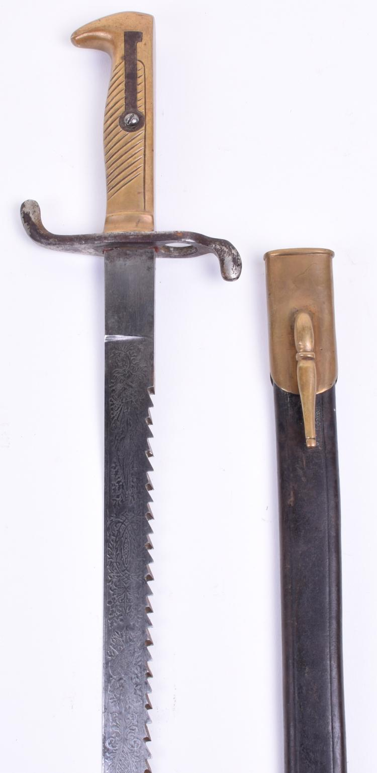 Imperial German 1871 Sawback Dress Bayonet with Etched Blade