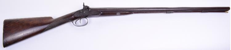 Double Barrel 20 Bore Percussion Sporting Gun by Clarke