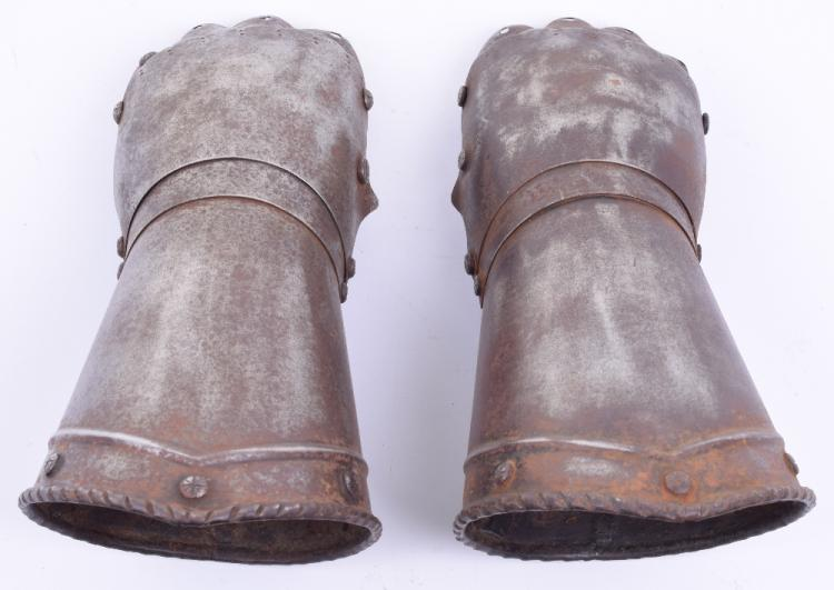 Pair of Victorian Mitten Gauntlets in Medieval Style