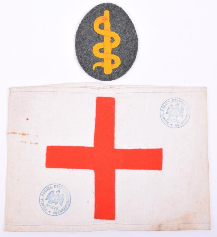 Ww1 German Red Cross Armband And Medical Officers Cloth Arm