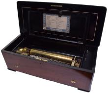 A fine musical box playing ten airs, by B. A. Bremond,