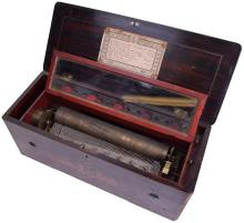A hidden Bells and Drum musical box playing eight airs, by Ducommun Girod,