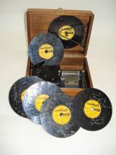 A 4.1/2-inch Thorens disc musical box,