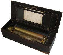 A hooked-tooth musical box playing eight airs, by Bremond,