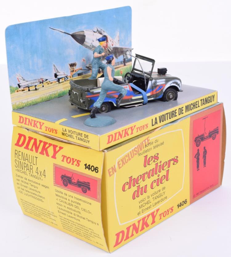Dinky toys boîte repro 1406 renault 4x4 sinpar michel tanguy chevaliers du ciel