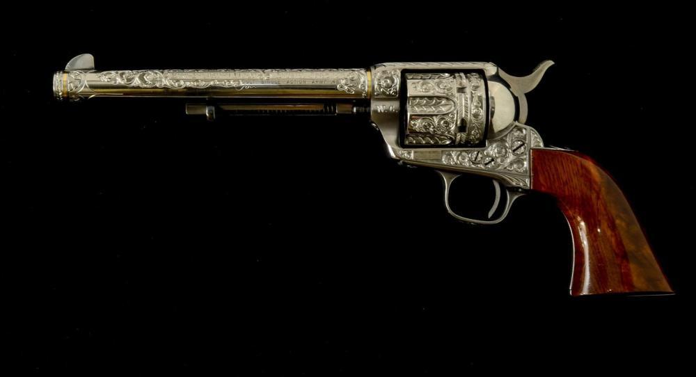 Custom Engraved Colt SAA: Little Big Horn