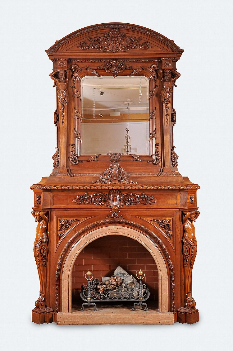A Fireplace with Mirror