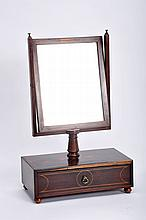 A Vanity Dresser with Tilting Mirror