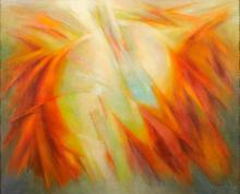 """MARCELINO VESPEIRA - 1925-2002, """"Gira-sol"""", óleo sobre tela, pequenas faltas na pintura, assinado e"""