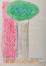 ÂNGELO DE SOUSA - 1938-2011, Sem título, lápis de cera sobre papel, assinado e datado de 27/09/1962