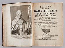 La vie de Dom Barthelemy des Martyrs