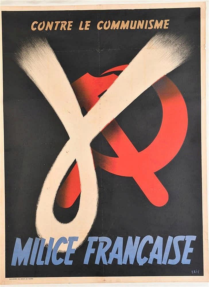 Affiche illustrée en couleurs de 1943 de propagande pour le recrutement de