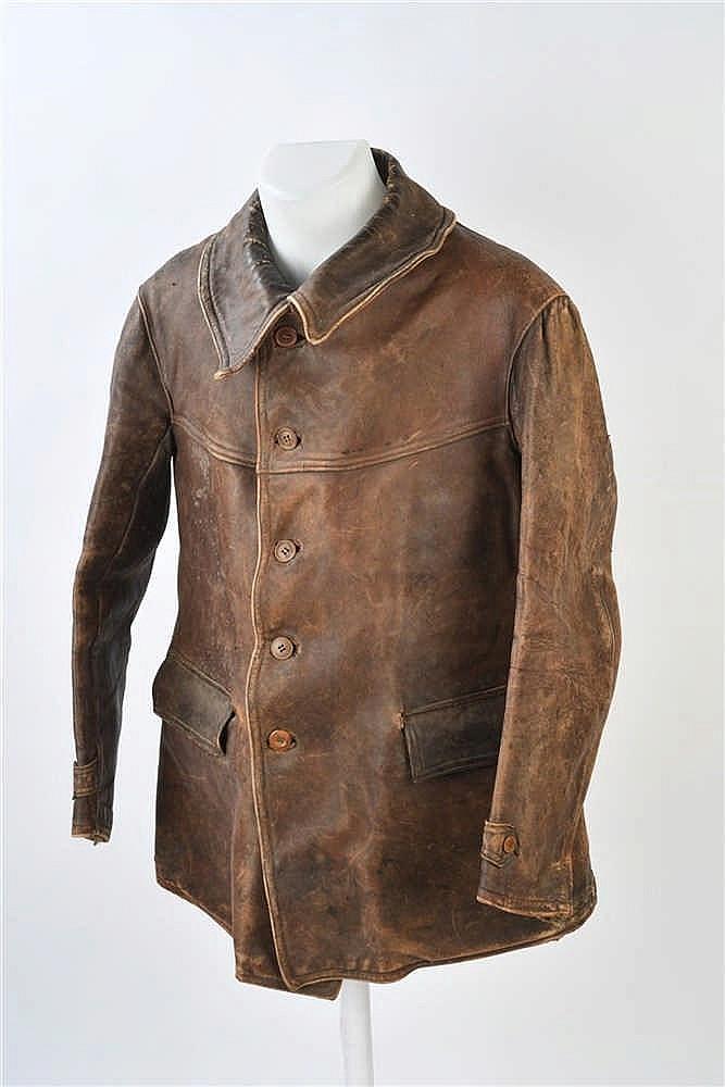 Veste en cuir marron du type modèle 35 des Légions de la Gardeavec marquag