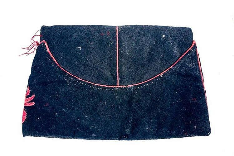 Bonnet de police de la Garde Nationale en drap bleu foncé, bordé d'un passe