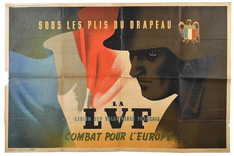 Affiche illustrée et en couleurs de la Légion des Volontaires Français (118