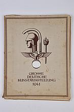 Planche «Grosse Deutsche Kunstaussteilung 1941». Reproduction des œuvres présentées à la Haus der Deuschen Kunst de Munich en 1941. Contenant une planche en couleur de Hans Schmitz Wiendenbrück intitulée «Arbeiter, Bauern und
