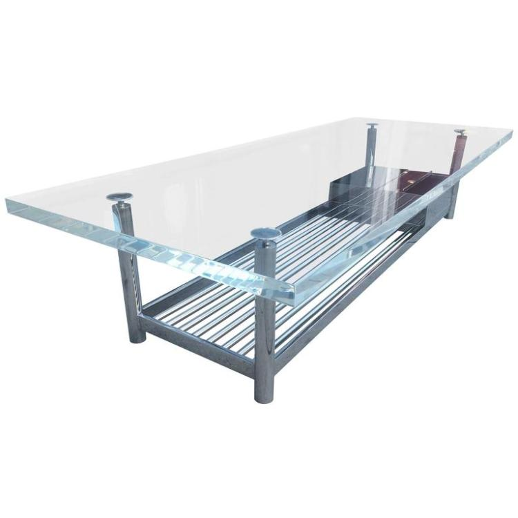 Limited Edition Marion Coffee Table In Stainless Steel And