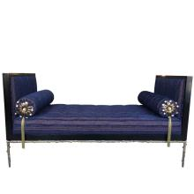 Custom Designed Daybed with Flora Inspired Base in Solid Bronze