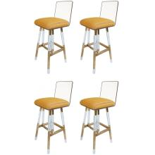 Set of Four Charles Hollis Jones Barstools from the Metric Collection, Signed