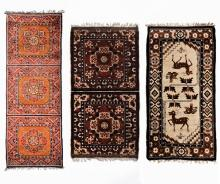 A GROUP OF THREE ANTIQUE CHINESE RUGS
