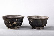 A PAIR OF COCONUT BOWLS