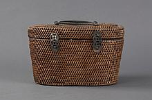 A BAMBOO WEAVED BASKET