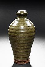 A TEA DUST GLAZED VASE