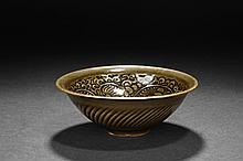 A YAOZHOU KILN GLAZED BOWL